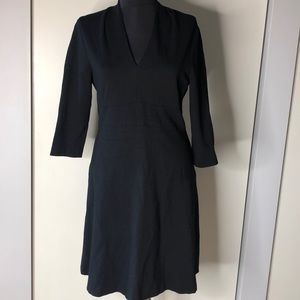 LK Bennett Dr Derry Black Ponte Fit & Flare Dress